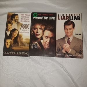 Set of 3 VHS Tapes